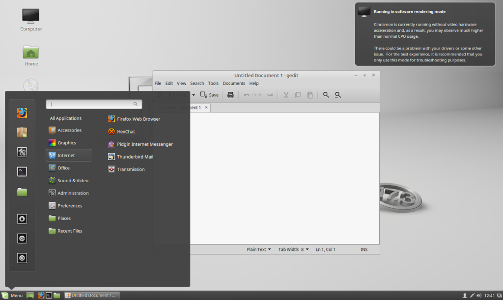 Режим live-cd в Linux Mint
