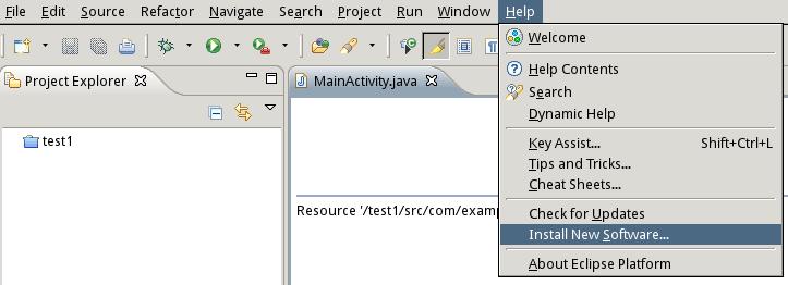 Начало установки ADT Plugin
