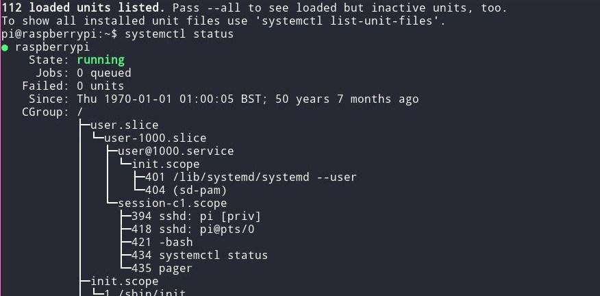 systemctl status running после модификации образа