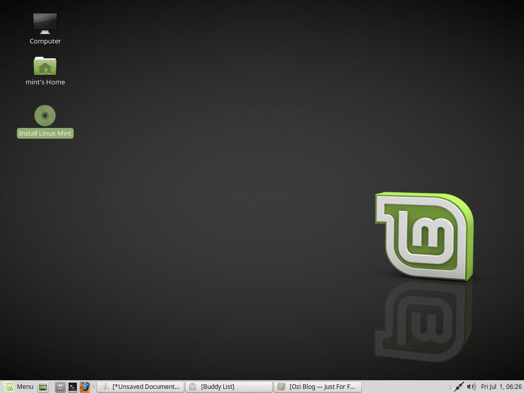 Запуск установки Linux Mint 18